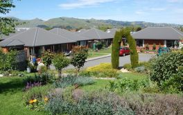 Retirement Village Linrose is private, spacious with Port Hills views