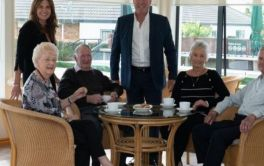 Retirement Village Jason & Sharlene Rowling with residents at Carmel Country Estate