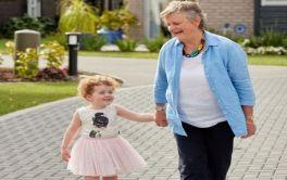 Retirement Village Grandkids visiting