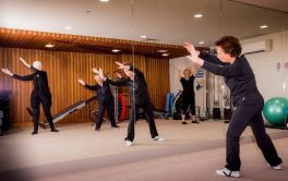 Retirement Village Tai Chi in our gym