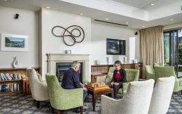 Retirement Village Residents enjoying a game of chess in the lounge