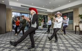 Retirement Village Line Dancers having fun