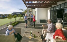 Retirement Village Drinks with Friends
