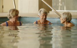 Retirement Village Relax in the pool and spa